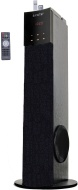 SYKIK TSME24 49W RMS Wireless 2.1 tower speaker with Bluetooth, docking station, Radio, SD & USB, remote with touch screen and LED