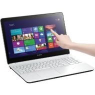 "Sony - VAIO Fit 15.5"" Touch-Screen Laptop - 8GB Memory - 1TB Hard Drive - White SVF15218CXW"