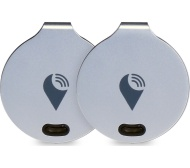 TRACKR Bravo - Silver, Pack of 2