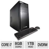 iBUYPOWER Gamer Extreme 950D3 Gaming PC - Intel Core i7-2600 3.40GHz, 8GB DDR3, 1TB HDD, NVIDIA GeForce GTX 550 Ti, DVDRW, Windows 7 Home Premium 64-b