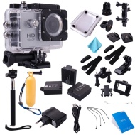 """G400 HD 1080P 1.5"""" LCD Sport Caméra Appareil Photo Vidéo Étanche + Couverture étanche/Waterproof Case Cover + 2pcs Batterie + UE Chargeur + Manfrotto"""