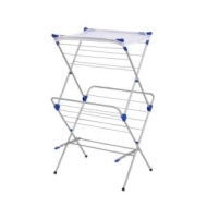 Honey-Can-Do DRY-01104 Two-Tier Mesh Top Premium Drying Rack, Silver