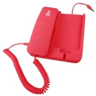 Pyle PIRTR60RD Handheld Phone and Desktop Dock for iPhone - Red