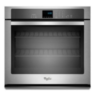 "Whirlpool 27"" Electric Wall Oven w/ SteamClean Option - Stainless Steel"
