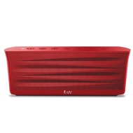iLuv MobiOut Splash-Resistant Wireless Bluetooth Speaker with Jump-Start (Red)