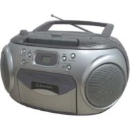 Emerson Portable AM/FM CD Player/Cassette Recorder Boombox