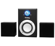 Frisby 1000 Watt 3 Pc Amplified Subwoofer Computer Mp3 Cd Laptop Speakers