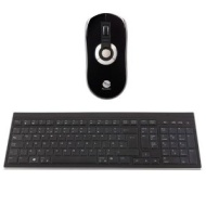 Gyration Rechargeable Wireless Air Mouse Elite and Wireless Slim Low Profile Keyboard GYM5600LKNA Bundle