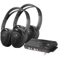 Power Acoustik HP-902RFT 2 Swivel Ear Pad, 2-Channel RF 900MHz Wireless Headphones with Transmitter