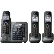Panasonic - DECT 6.0 Expandable Cordless Phone System with Digital Answering System KX-TG7643M