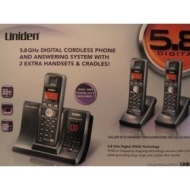 Uniden - TRU12803 5.8 GHz Phone/Answerer