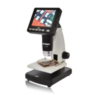 "DNT - Microscopio digitale ""DigiMicro Lab 5.0"", 5 megapixel, display da 8,8 cm (3,5 pollici), colore: Nero"