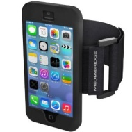 Mediabridge Sport Armband for iPhone 5 / iPhone 5S - Includes Front and Back Screen Protector (Black)