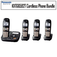 Panasonic KXTG6592T DECT 6.0 Amplified Cordless Phone With Two Expanadable Handset Bundle