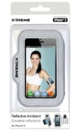 Xtreme Reflective Armband for iPhone 5 - Retail Packaging - Gray