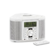 pure chronos cd series ii dab/fm/cd stereo clock radio white