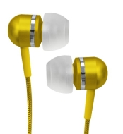 Coby Jammerz Platinum High-Performance Isolation Stereo Earphones CVEM79YEL (Yellow)