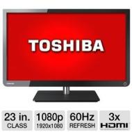"Refurbished Toshiba 23"" Class LED TV - 1080p, 60Hz, 3x HDMI, USB, Energy Star (ished)"