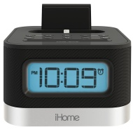 iHome Dual Charging Stereo FM Clock Radio with Lightning Dock for iPod/iPhone
