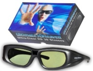 Sharp 3D Glasses Compatible 3D Heaven Ultra-Clear HD for for 2012 & Prior IR Sharp 3D TV's