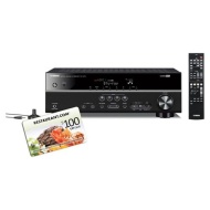 Yamaha RXV373BL 5.1 Channel AV Receiver with a $100 Restaurant.com Gift Card