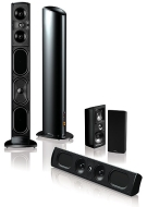 Definitive Technology Mythos Super Towers, Gem XL and Ten center channel speaker