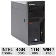 Lenovo ThinkCentre M58 Desktop PC - Intel Core 2 Duo 2.33GHz, 4GB DDR3, 1TB HDD, DVDRW, Windows 7 Professional 64-bit, Mouse & Keyboard (Off-Lease)  R