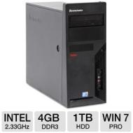 Lenovo ThinkCentre M58 Desktop PC - Intel Core 2 Duo 2.33GHz, 4GB DDR3, 1TB HDD, DVDRW, Windows 7 Professional 64-bit, Mouse & Keyboard (Off-Lease) R