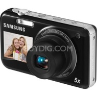 Samsung PL120 14MP Dualview Black Digital Camera with 5X Optical Zoom