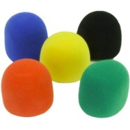 Seismic Audio - NEW 5 Foam Microphone Windscreens-Color Mic Wind Screen