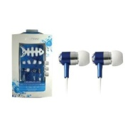 CLiPtec® Crystalica BME909 In-Ear Headphones with cable wrap - Blue