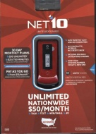 Motorola W408 Pre-Paid Cell Phone for Net10 - Red/Black