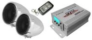 Pyle PLMCA40 altavoz - Altavoces (2.0 sistema, universal, Portátil, Externo, 50 W, 20 - 20000 Hz) Plata