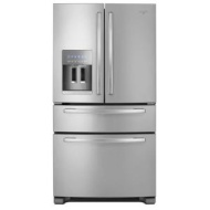 Whirlpool - 25.0 Cu. Ft. 4-Door French Door Refrigerator with Thru-the-Door Ice and Water - Monochromatic Stainless-Steel