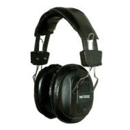 Black Switched Stereo/Mono Headphones with Volume Controls, Adjustable Headband 3,5mm jack plug and
