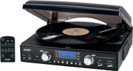 Jensen JTA-460 - 3-Speed Stereo Turntable - Black
