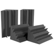 "Auralex Acoustics Auralex LENCHA LENRD Bass Traps in Charcoal 8- 12""x12""x17"" Triangular; 24"" Long"