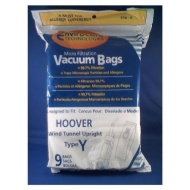 Generic Hoover WindTunnel Type Y Vacuum Bags 9 Pack, Fits Hoover 4010100Y