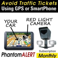 PhantomALERT Red Light Camera, Speed Camera, and Speed Trap Detector Software for Select Garmin, TomTom, and Magellan GPS (1-Month Download Subscripti