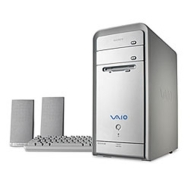 Sony VAIO PCV-RS410 Desktop (2.66-GHz Pentium 4, 256 MB RAM, 120 GB Hard Drive, DV+RW/CD-RW Drive)