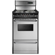 Summit Tem130bkwy Stainless Steel Electric Range