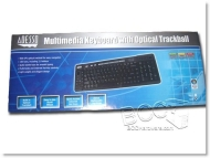 Adesso Multimedia Keyboard and Optical Trackball AKB-320UB