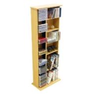 CLAREMONT - CD DVD Blu-ray Video Multimedia Storage Unit - Beech