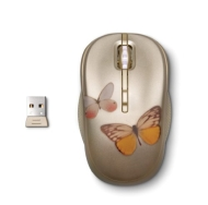HP WJ161AA Mouse - Optical Wireless - Gold