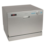 6 Place Setting Countertop Portable Dishwasher - Silver by EdgeStar
