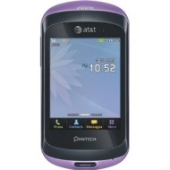 Pantech Swift P6020 Used GSM Cell Phone Purple AT&T