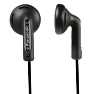 RP-HV108EB-K Stereo Earphones with Volume Control - Black