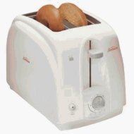 Sunbeam Toaster; 2-Slice, White