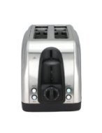 Chefman Stainless Steel Gourmet Pro Two Slice Toaster with LED Buttons