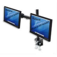 "Dual LCD Monitor Stand desk clamp holds up to 24"" lcd monitors"